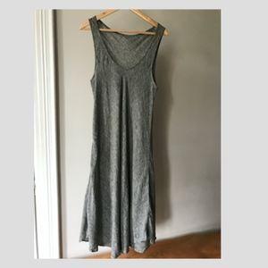 linen vintage midi dress